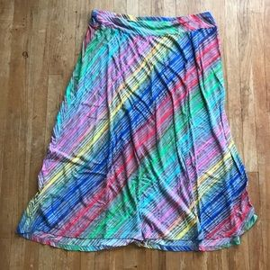 New Directions Plus Size Rainbow Maxi Skirt 🌈